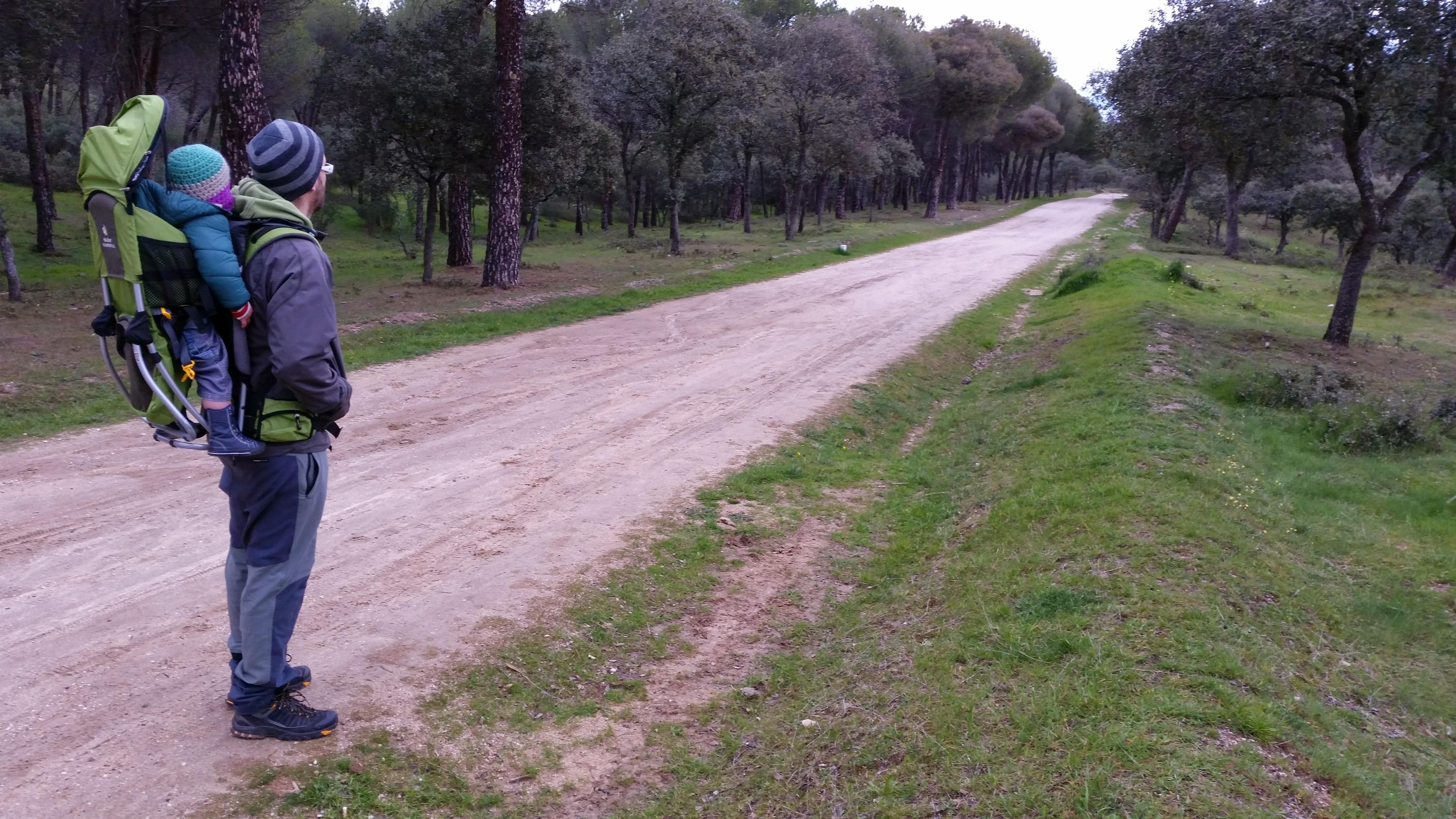 Mi familia de paseo por el Pinar de Valdelatas