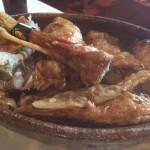 Cordero al horno de leña en el restaurante Casa Manrique (Sotosalbos. Segovia)