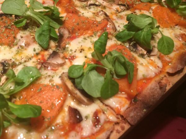 Pizza de calabaza de Rest. Saporem (Madrid)