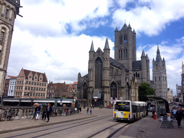 Plaza principal de Gante (Bélgica)