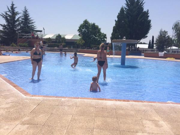 Zona de bebés de la piscina municipal de Collado Villalba (Madrid)