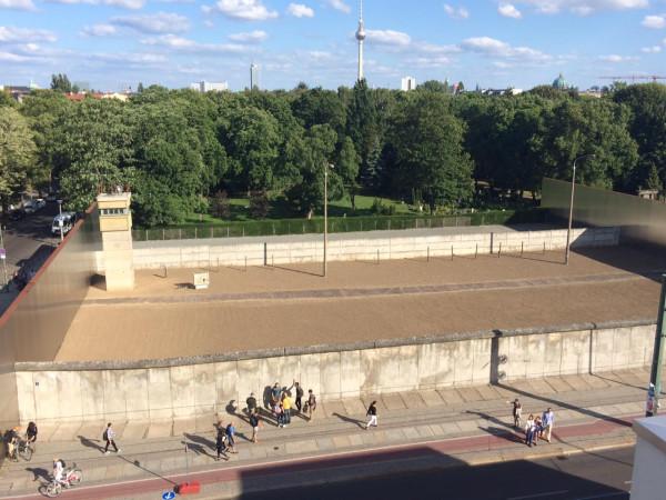 El muro de BBerliner Mauer en la Bernauer strausse (Berlín)