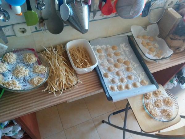 Arsenal de pasta fresca para comer y congelar