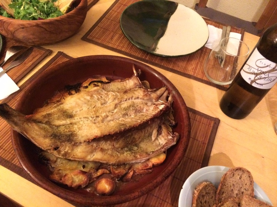 Abadejo cocinado en casa de Fresco y del Mar.