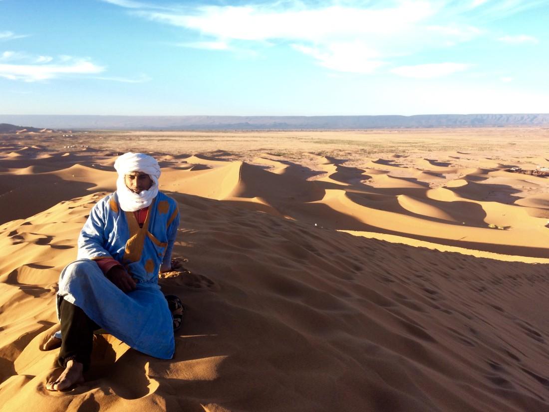 En dromedario hasta la gran Duna de los judíos (Marruecos)