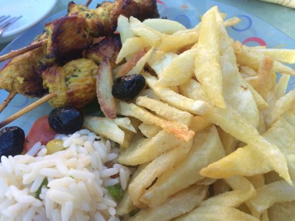 Brochetas de pollo al estilo marroquí