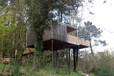 Cabañas en los árboles en Galicia