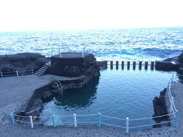 El charco azul en La Palma