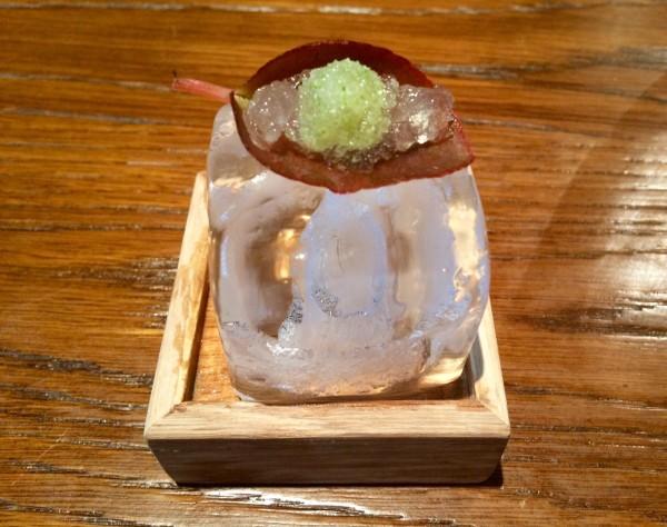 Begonia helada, margarita y manzana-apio
