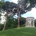 Templo de Baco en el Parque del Capricho (Madrid)