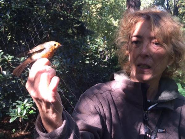 Eva explicando los pájaros