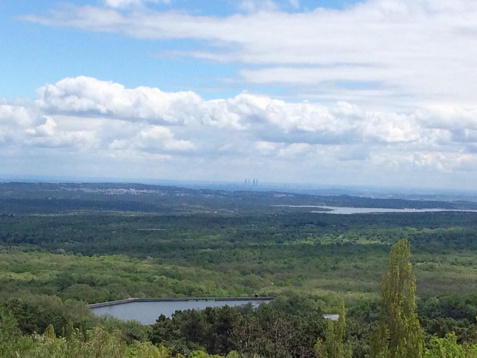 Vistas desde la ruta La horizontal en El Escorial
