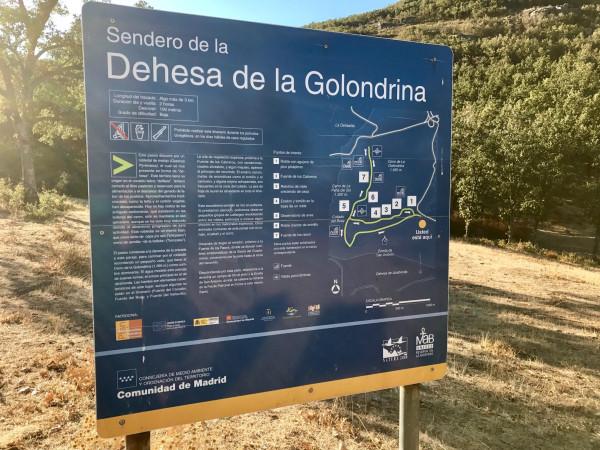 Señal de la Senda de la Golondrina (Navacerrada)