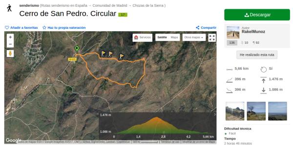 Pico de San Pedro en Wikiloc