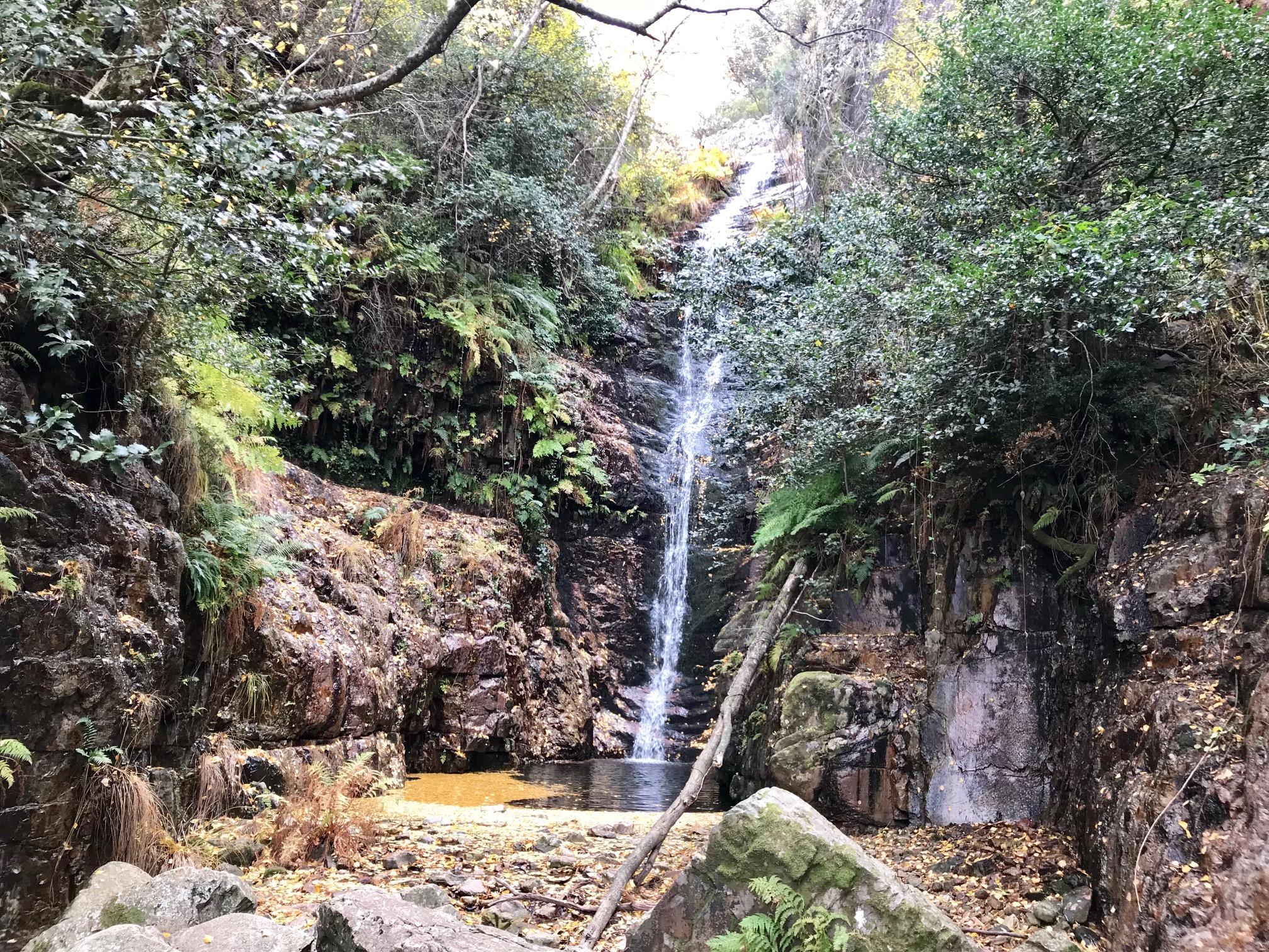 Ruta del chorro en el parque Nacional de Cabañeros