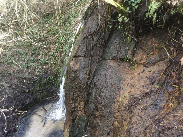 Pequeña cascada de la Senda de los Pescadores (Cuéllar)