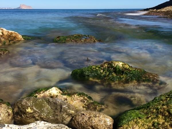 Cala al final de la ruta del Faro de Albir (Alicante)