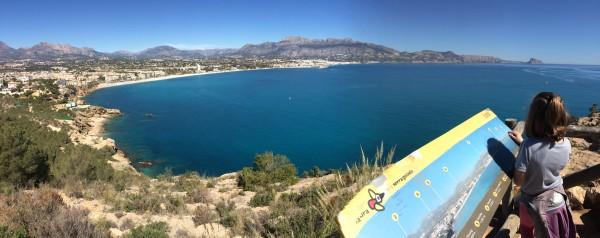 Panorámica desde la ruta al Faro de Albir (Alicante)