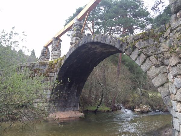 Puente de los Canales en la ruta de Boca del Asno (Segovia)