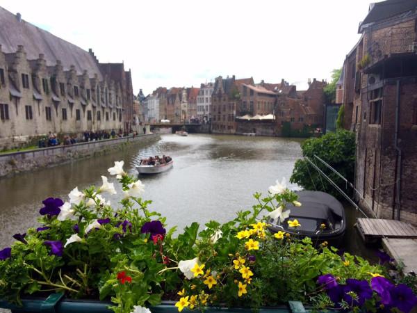 Canales en Gante (Bélgica)