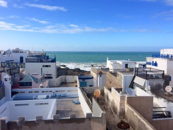 Vistas desde la terraza del Riad Belle Essaouira (Marruecos)