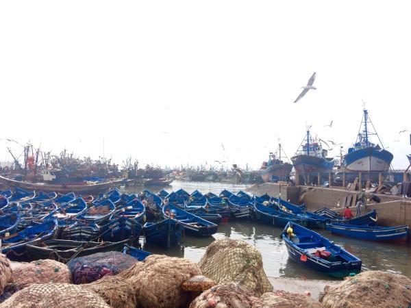 El puerto de pescadores de Essaouira (Marruecos)