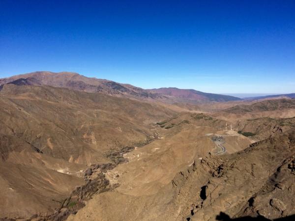 Vistas desde el Alto Atlas (Marruecos)