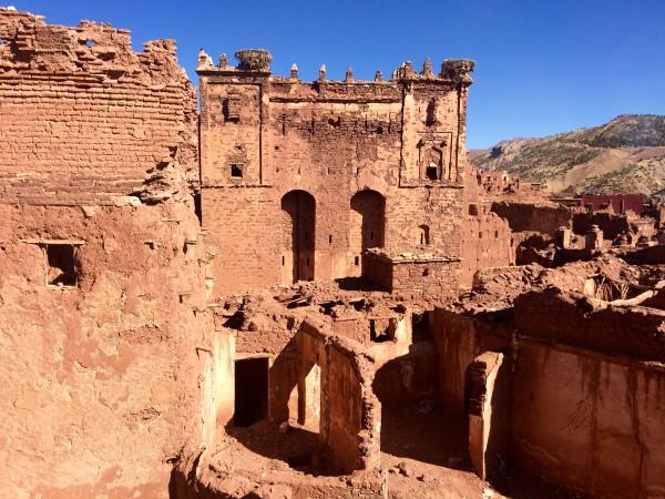 Exterior de la kasbah de Telouet