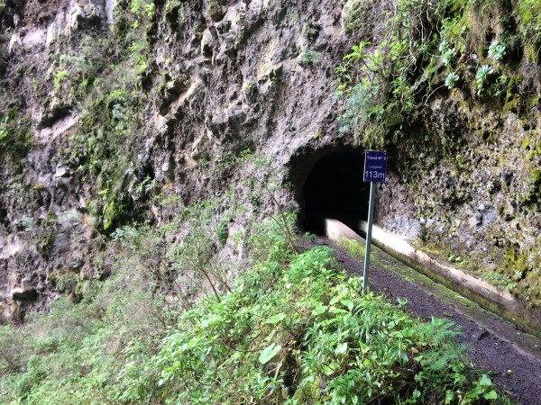 Túneles del sendero del nacimiento de Marcos y Cordero. La Palma