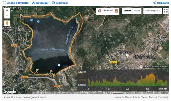 Ruta en Wikiloc de la vuelta al embalse de Navacerrada