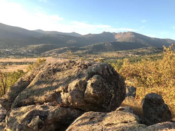 Vista de Siete Picos desde la ruta