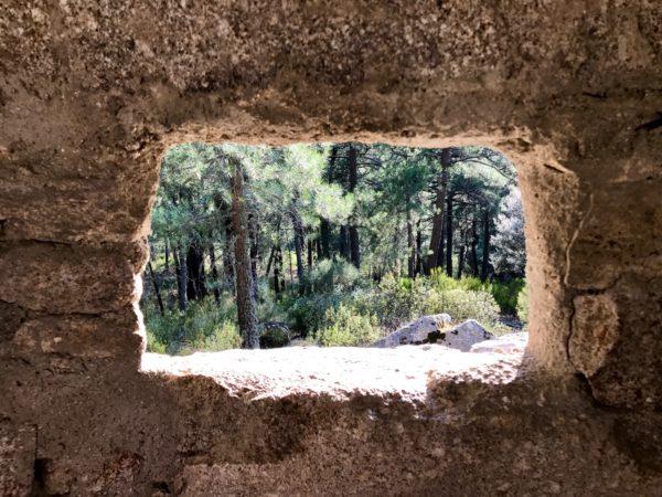 Vista desde las trincheras