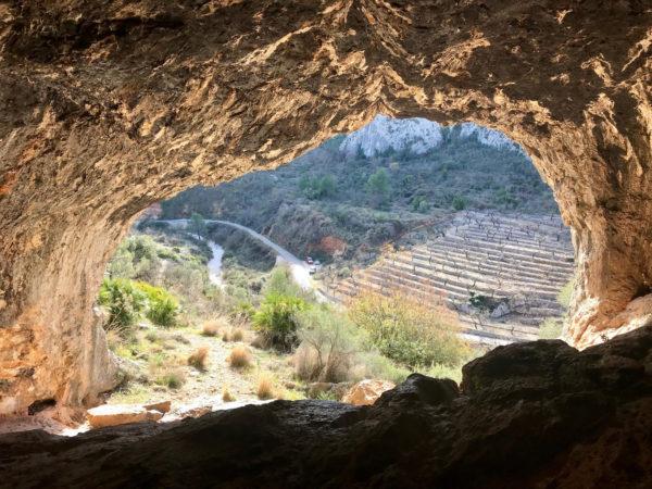 Vistas desde la cueva de Pla de Petracos